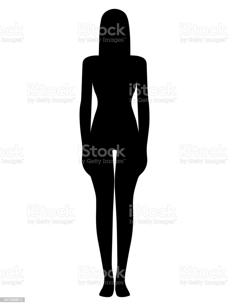 human body silhouette stock vector art more images of abstract rh istockphoto com human silhouette vector standing human silhouette vector brush