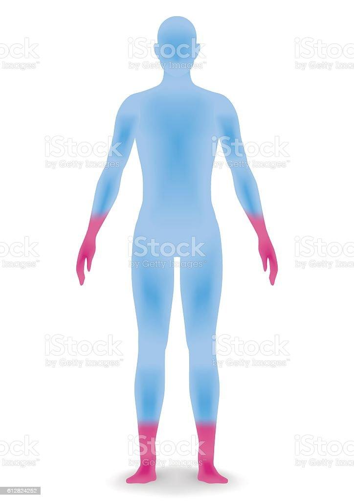 human body silhouette, vector illustration vector art illustration