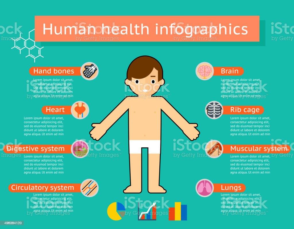 Ilustración de Cuerpo Humano Médica Infografías Sistemas y más banco ...