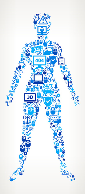 Human Body  Tech Support Vector Icon Pattern