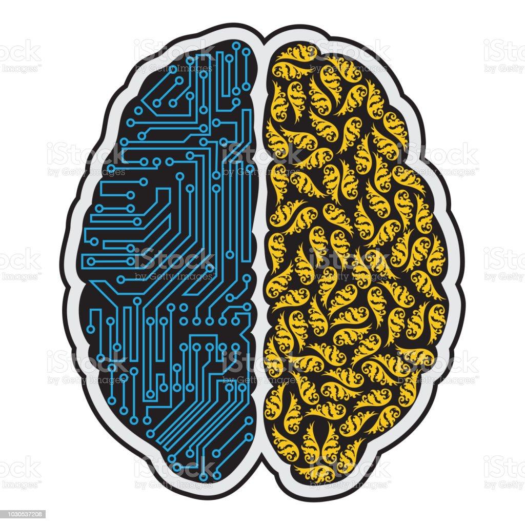 Human brain abstract - illustrazione arte vettoriale