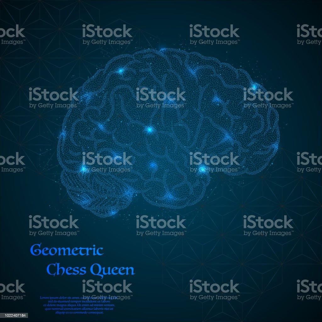 Human brain background - illustrazione arte vettoriale