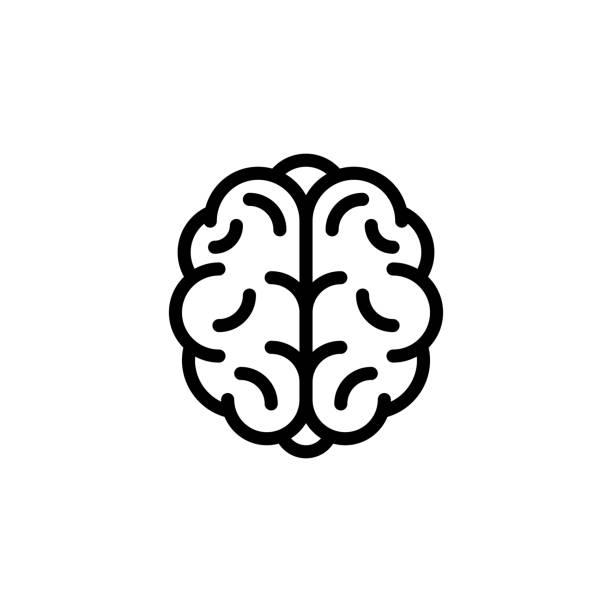 ilustraciones, imágenes clip art, dibujos animados e iconos de stock de icono del cerebro humano - brain
