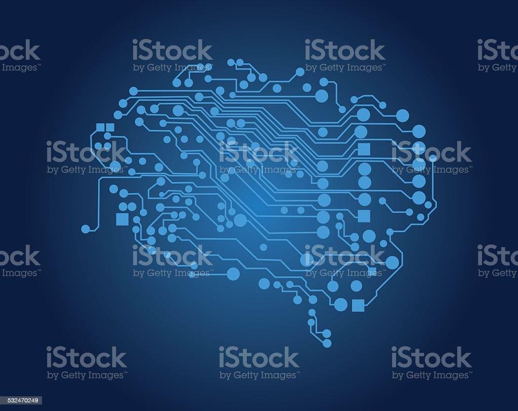 Human brain, logical thinking, vector vector art illustration