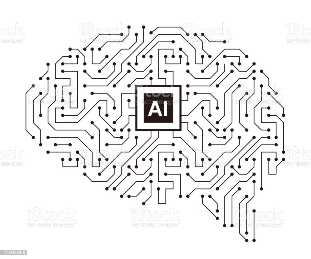 Human Brain Motherboards Chip And Artificial Intelligence Concept
