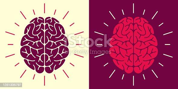 istock Human Brain  Symbol and Icon 1251335797