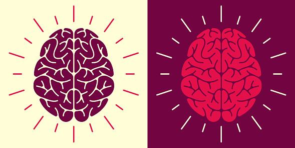 Human Brain  Symbol and Icon
