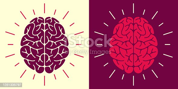 Human brain thought thinking mental health concept symbol.
