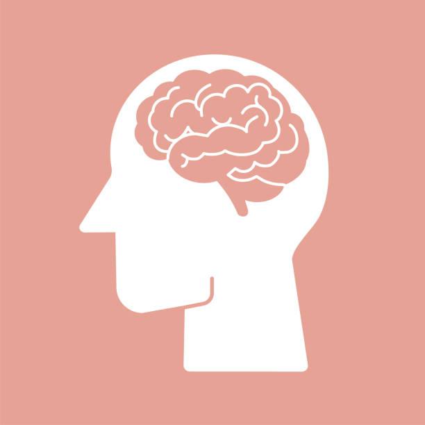 ilustrações, clipart, desenhos animados e ícones de ilustração humana do ícone do vetor do cérebro - cabeça