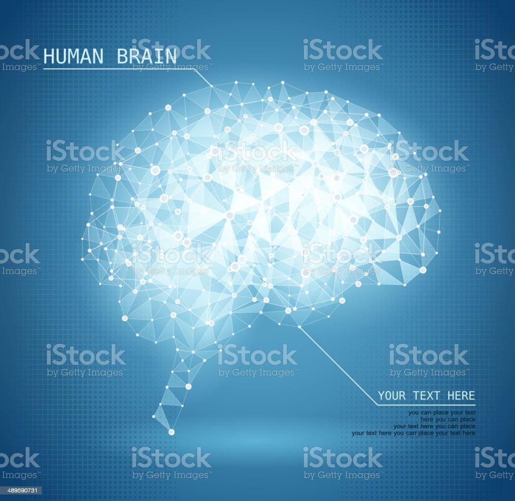 Cerebro humano - ilustración de arte vectorial