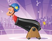 Human Cannonball In Circus