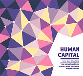 Human capital polygon vector background illustration for web banners and presentations and marketing. Modern abstract vector illustration design for your business or campaign.