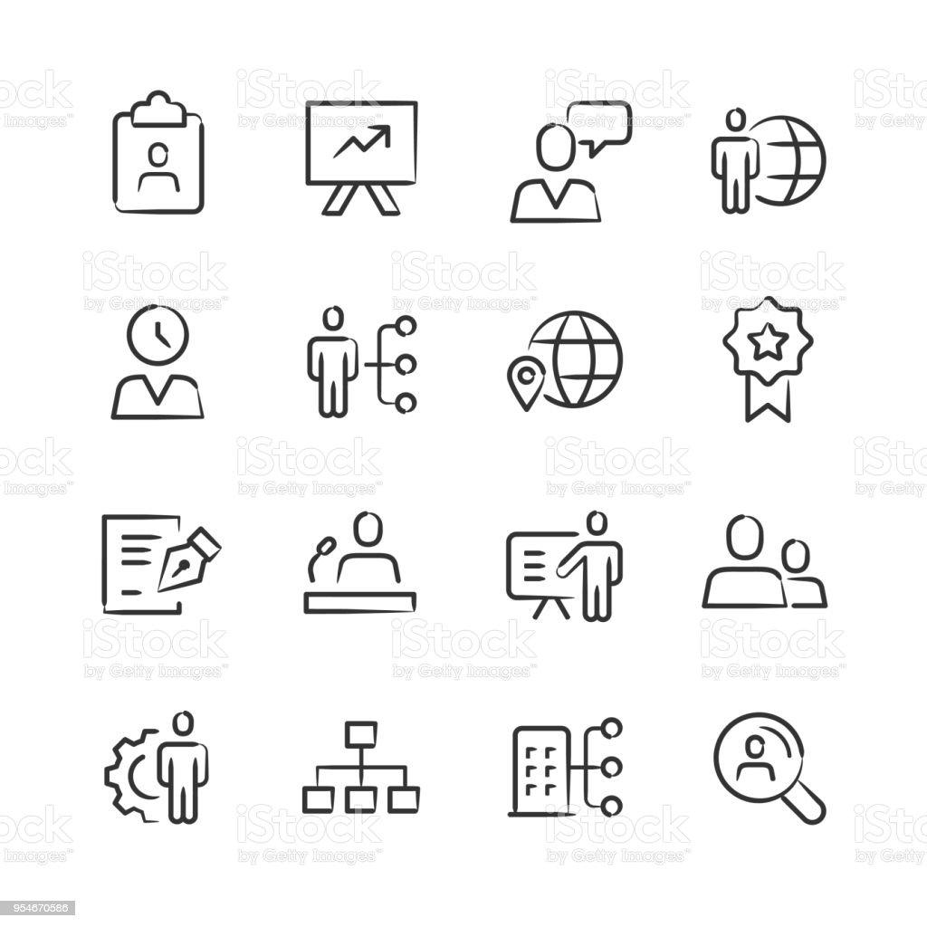 Human Capital — Sketchy Series vector art illustration