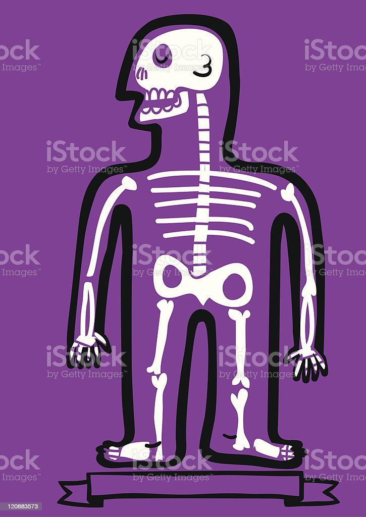 Menschliche Comic Skelett Stock Vektor Art und mehr Bilder von ...