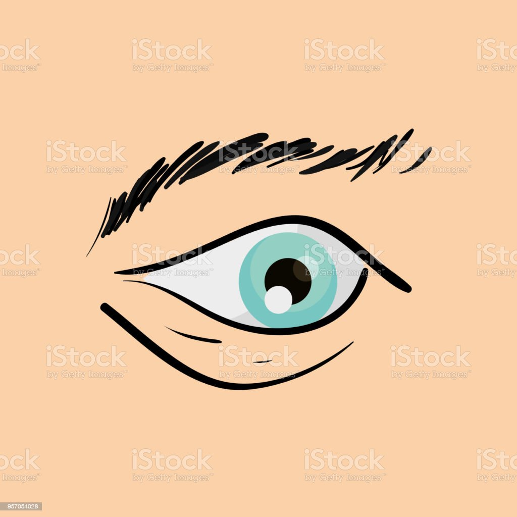Menschliche Auge Design Stock Vektor Art und mehr Bilder von ...