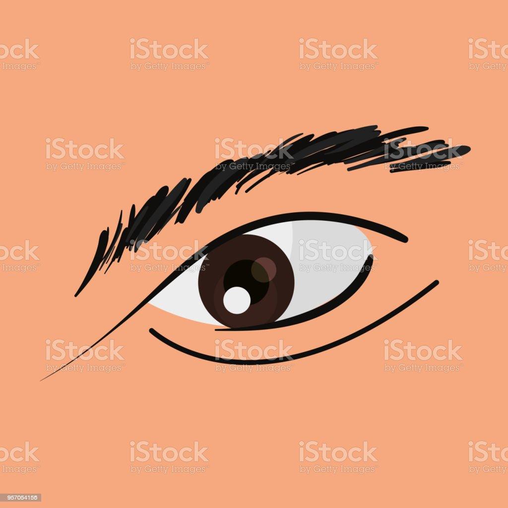 Human Eye Design Stock Vector Art & More Images of Anatomy 957054156 ...
