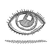 Human Eye Symbol Drawing