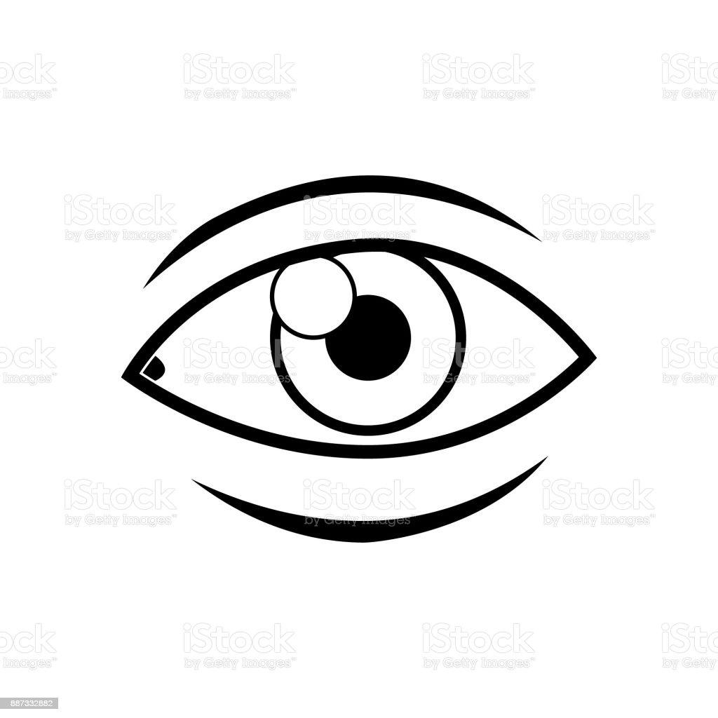 Menschliche Auge Vektor Icon Cartoondesign Stock Vektor Art und mehr ...