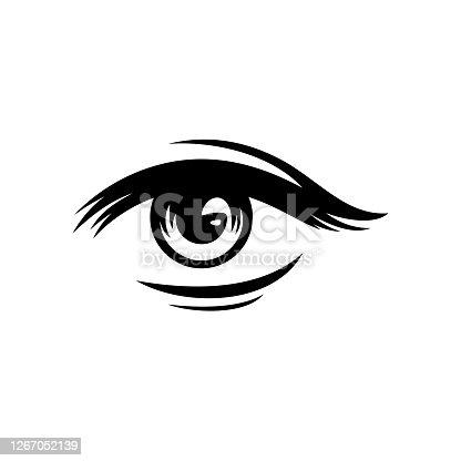 istock Human eye vector illustration 1267052139