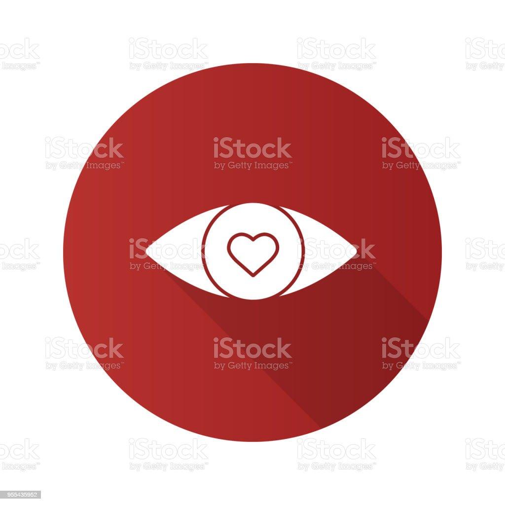 Menschliche Auge Mit Herz Im Inneren Symbol Stock Vektor Art und ...
