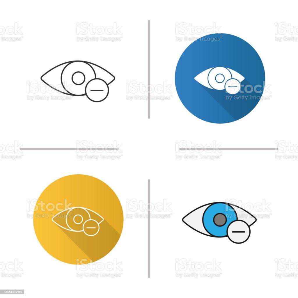 Menschliche Auge Mit Minuszeichensymbol Stock Vektor Art und mehr ...