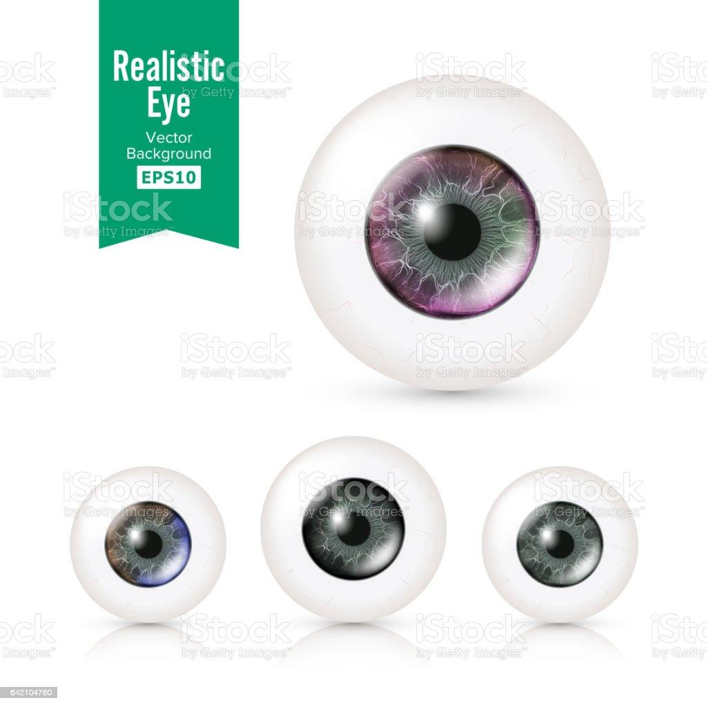Menschliche Augen Mit Großen Iris In Farbe Gesetzt ...