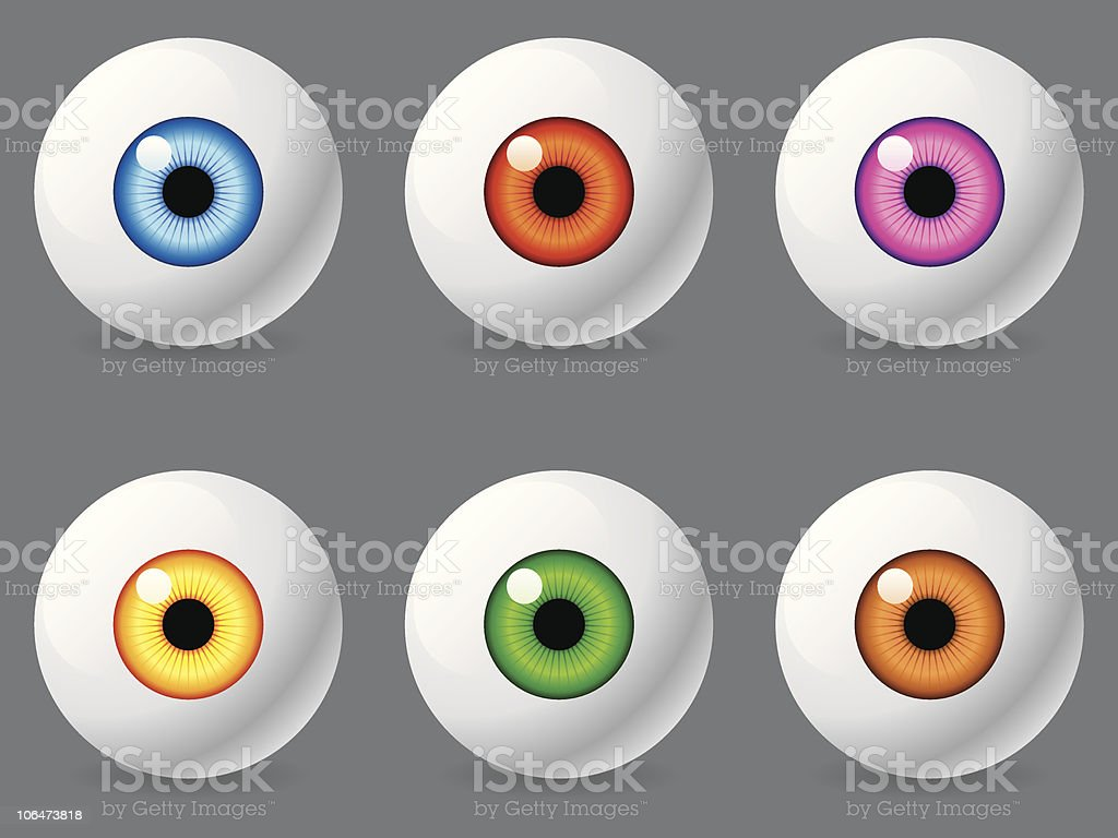 Human eyeballs. royalty-free stock vector art