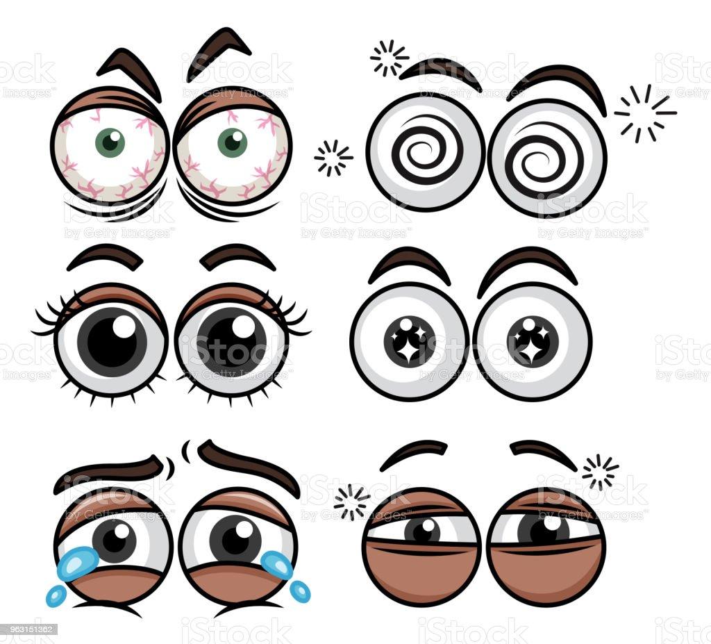 白い背景の上の人間の目の式 - アイコンのロイヤリティフリーベクトルアート