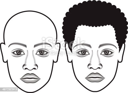 Human Face Bold & Hair
