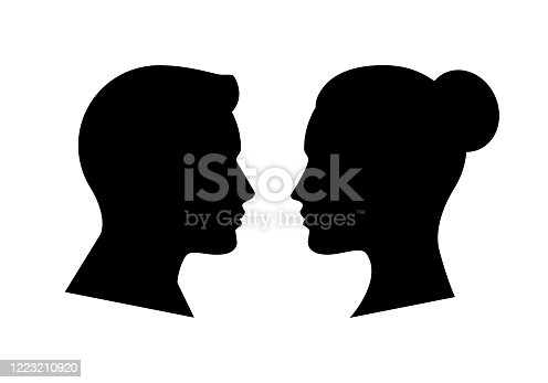Human Face Side Silhouette