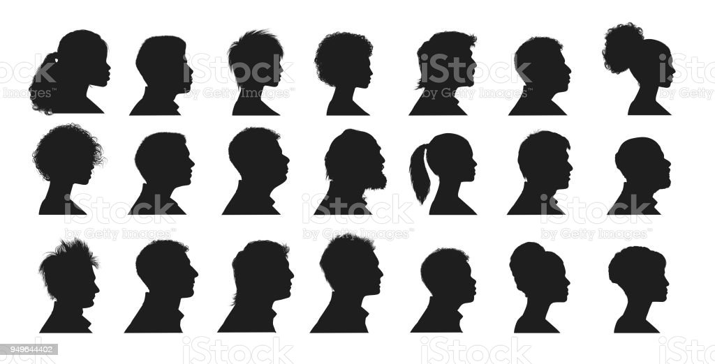 Human Faces vector art illustration