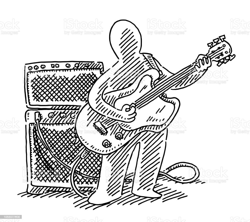 Figure Musician Electric Guitar Player Drawing Stock Illustration - on american family drawing, structural drawing, pressure drawing, architectural drawing, thin body drawing, plot plan, cooperative drawing, set square, flying v drawing, engineering drawing, mechanical systems drawing, working drawing, guide to drawing, site plan, exploded view drawing, blower fan drawing, civil drawing, gasoline drawing, chainlink drawing, shop drawing, plushie drawing, patent drawing, plug in drawing, hrsg drawing, plumbing drawing, launch pad drawing, technical drawing, oil drawing, cad drafter, drawing board, laundry machine drawing, drafting machine, cargo drawing, compact drawing, artificial drawing, classical drawing, technical lettering, ventilation drawing, floor plan,