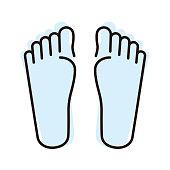 human foot flat icon, vector illustration