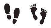 Human footprint icon.