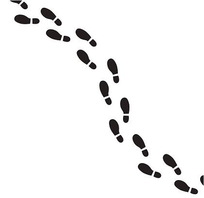 Human footprint vector icon.