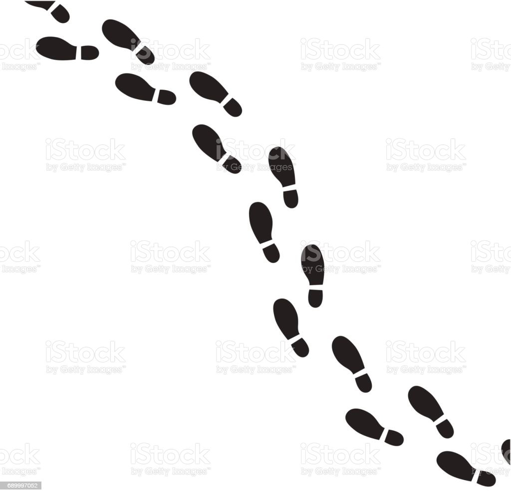 Human footprint vector icon. vector art illustration