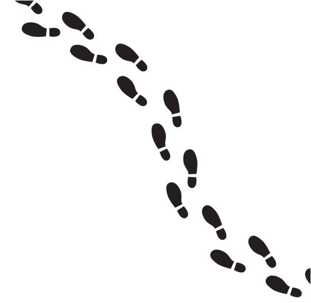 human footprint vector icon. - оттиск stock illustrations