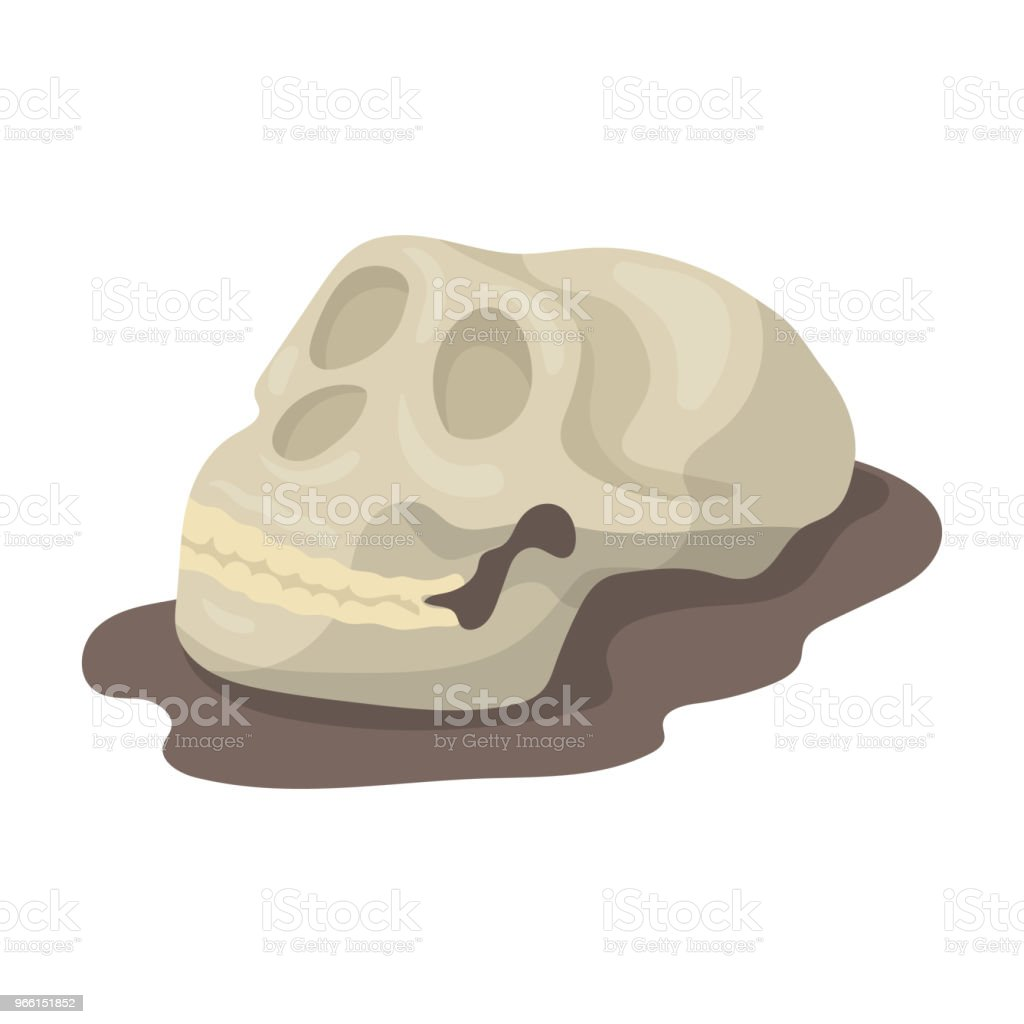 Human fossils icon in cartoon style isolated on white background. Dinosaurs and prehistoric symbol stock vector illustration. - Векторная графика Анатомия роялти-фри