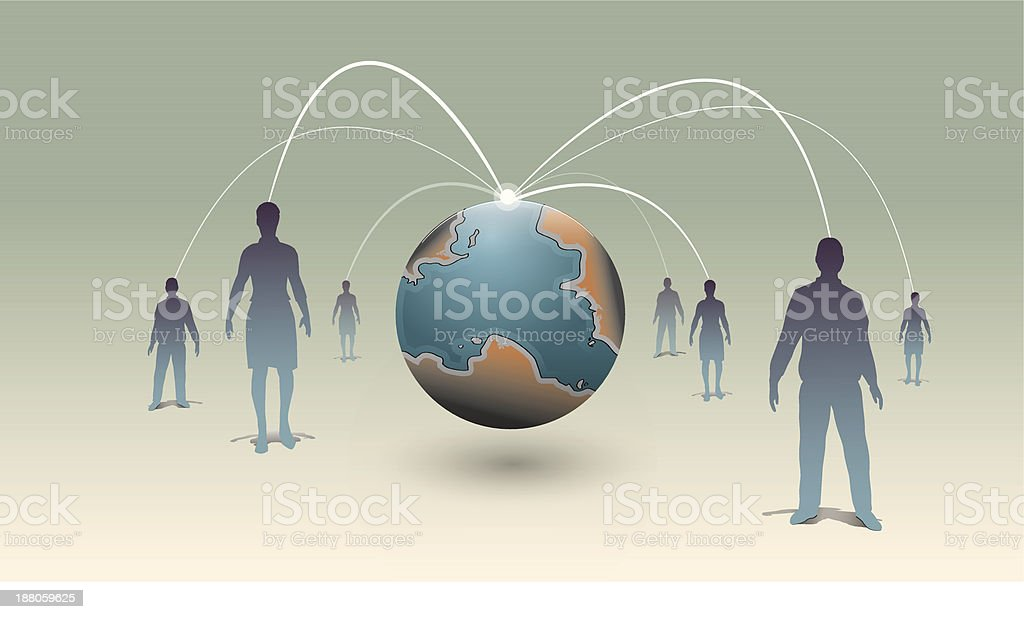 Human global connection royalty-free stock vector art
