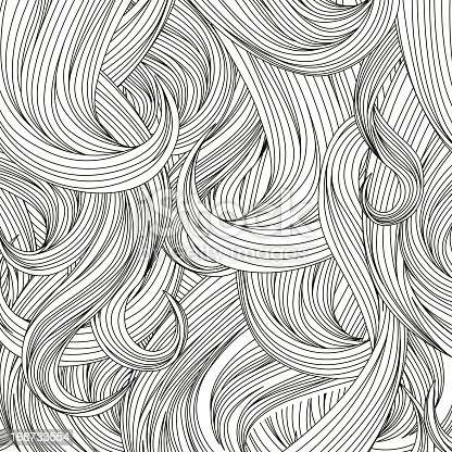 human hair black and white background