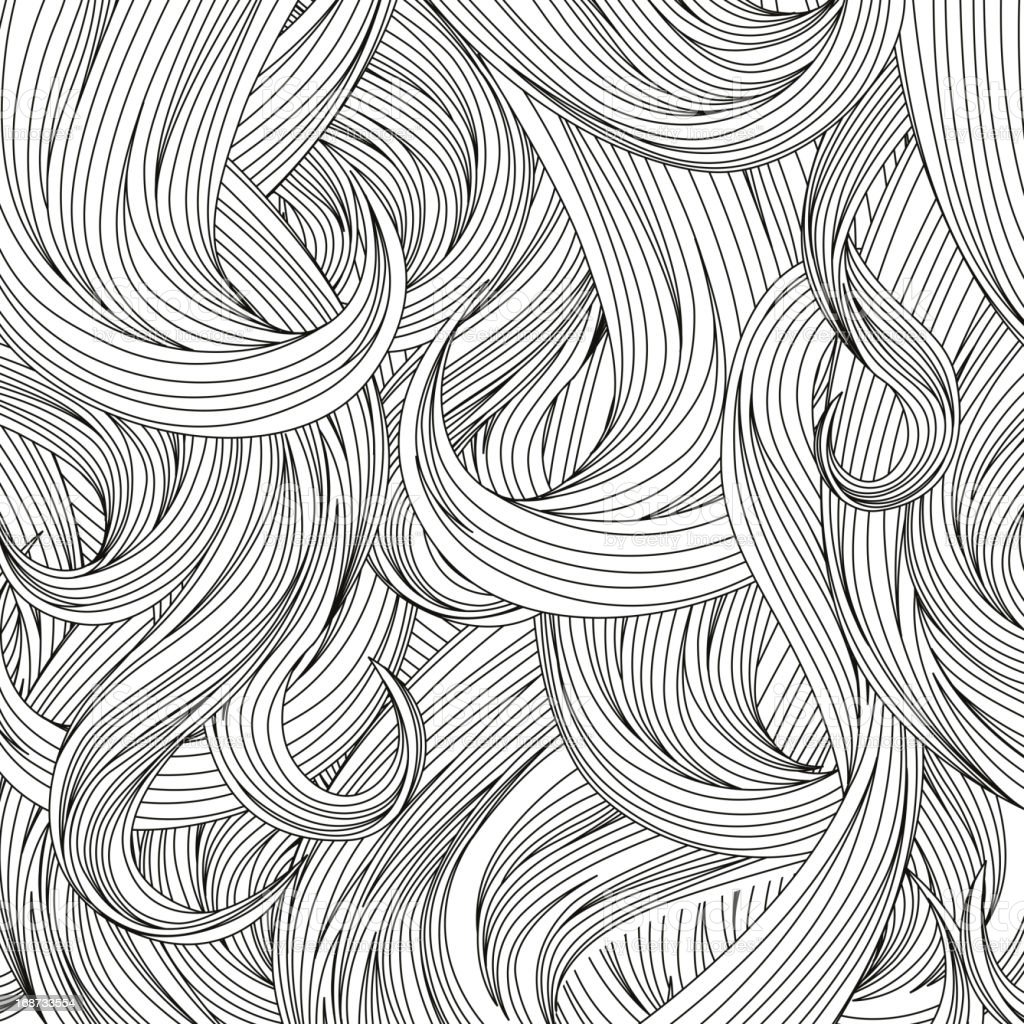 human hair background vector art illustration