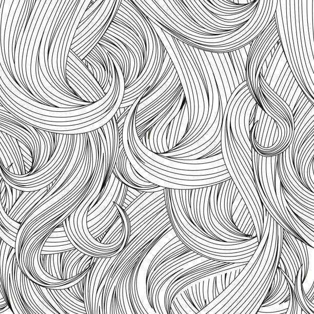 menschliches haar hintergrund - frisur stock-grafiken, -clipart, -cartoons und -symbole