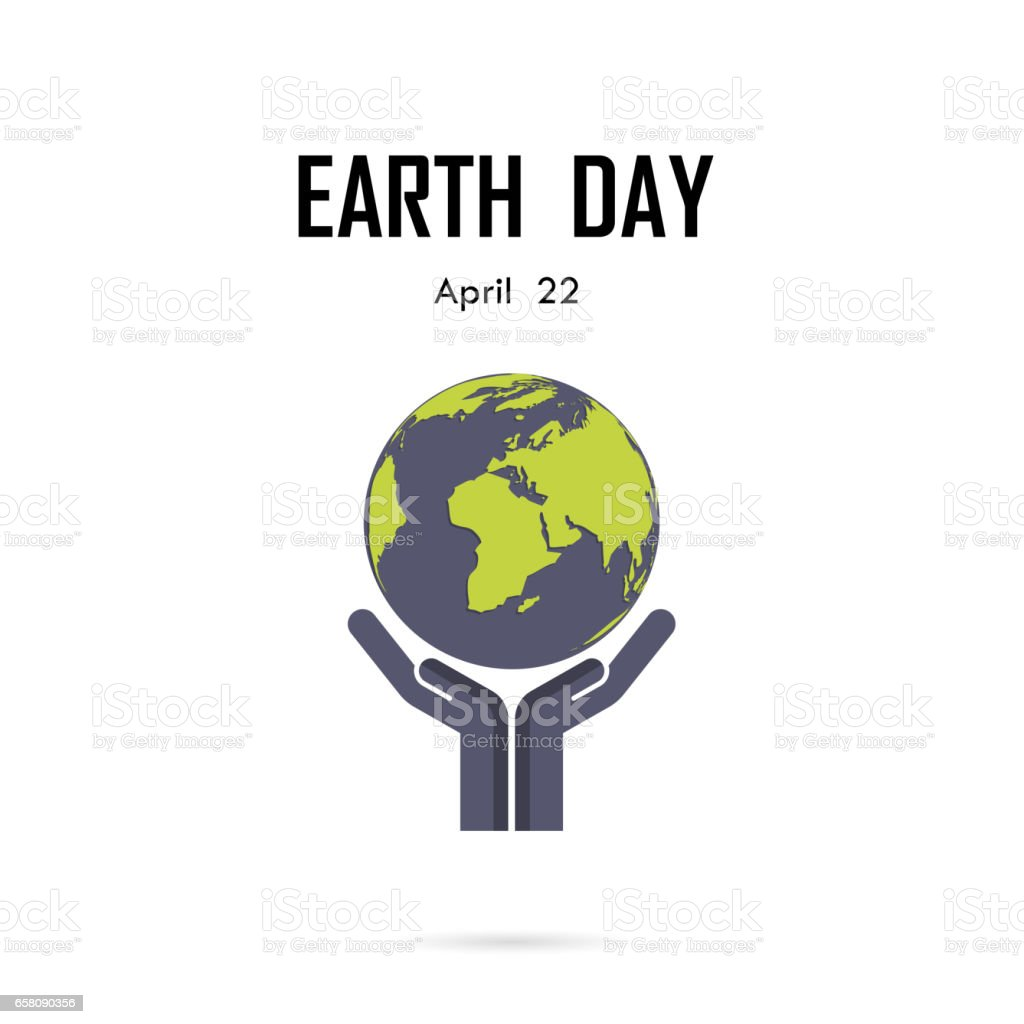 Human hand and globe icon vector logo design template.Earth Day campaign idea concept.Earth Day idea campaign for greeting Card,Poster,Flyer,Cover,Brochure,Abstract background. royalty-free human hand and globe icon vector logo design templateearth day campaign idea conceptearth day idea campaign for greeting cardposterflyercoverbrochureabstract background stock vector art & more images of abstract