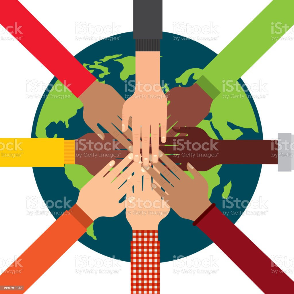 Human hand and planet icon. Social media design. Vector graphic royalty-free human hand and planet icon social media design vector graphic stock vector art & more images of colombia