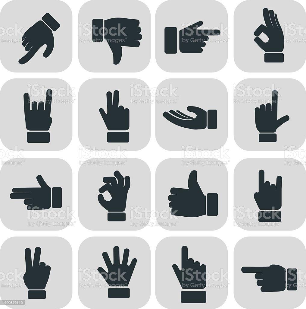 Human Hand collection, different hands, gestures, signals and signs human hand collection different hands gestures signals and signs - stockowe grafiki wektorowe i więcej obrazów broń palna royalty-free