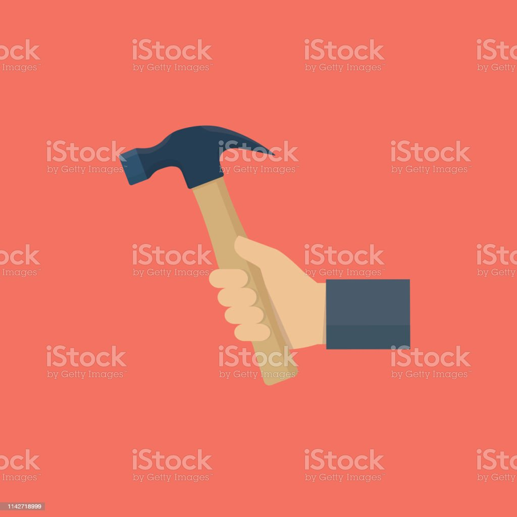 Flat hand holding hummer