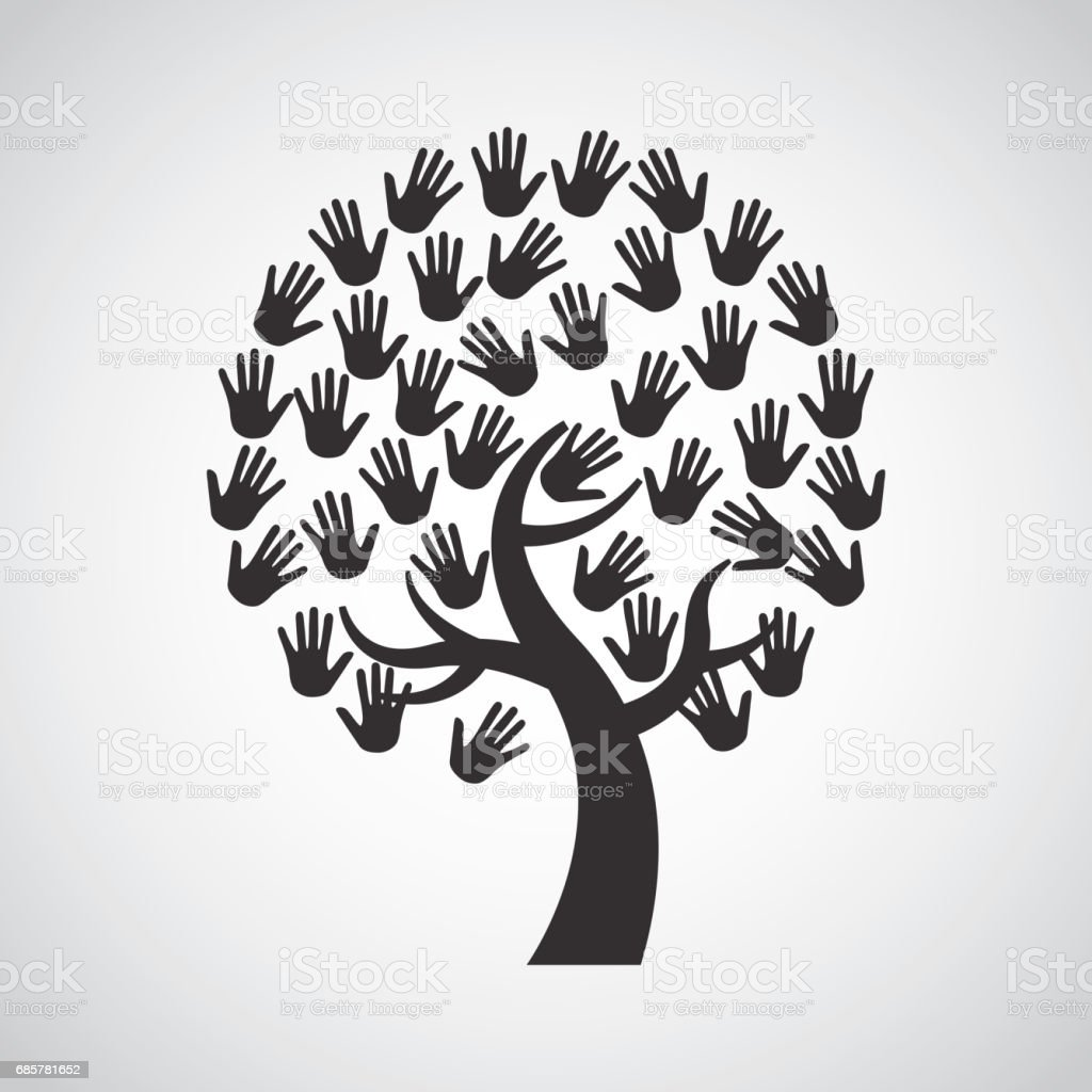 Human hand icon. Teamwork design. Vector graphic royalty-free human hand icon teamwork design vector graphic stock vector art & more images of assistance