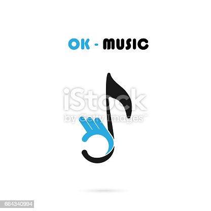 Human Hand Icon With Musical Note Vector Design Templatethe Best