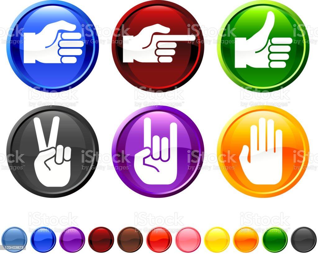 human hand signs royalty free vector icon set royalty-free stock vector art
