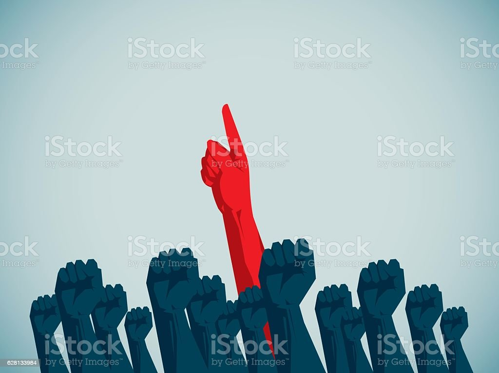 Human Hand vector art illustration